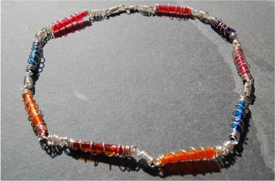 [Jewellery made from recycled materials]
